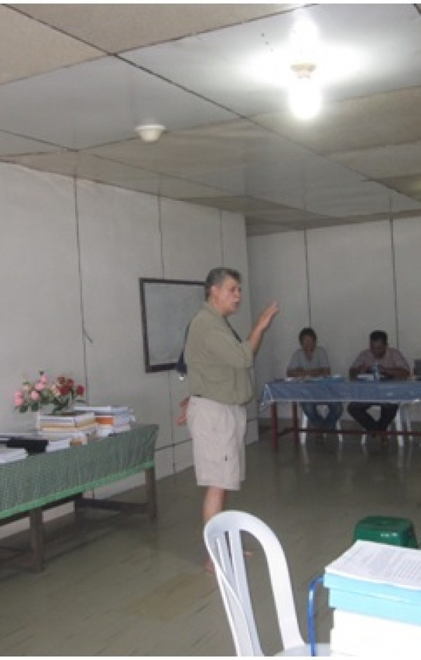 Pelatihan FSC FM Standard dan kegiatan mock audit yang disampaikan oleh Mr. Loy D Jones dari APCS